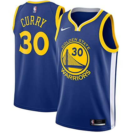 7b2b3e01b3bc1 Nike Stephen Curry Golden State Warriors NBA Youth 8-20 Royal Blue Road  Icon Edition Swingman Jersey