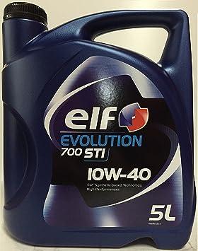 Elf 1951052031 - Aceite semisintã‰Tico Evolution 700 STI 10w40 5l: Amazon.es: Coche y moto