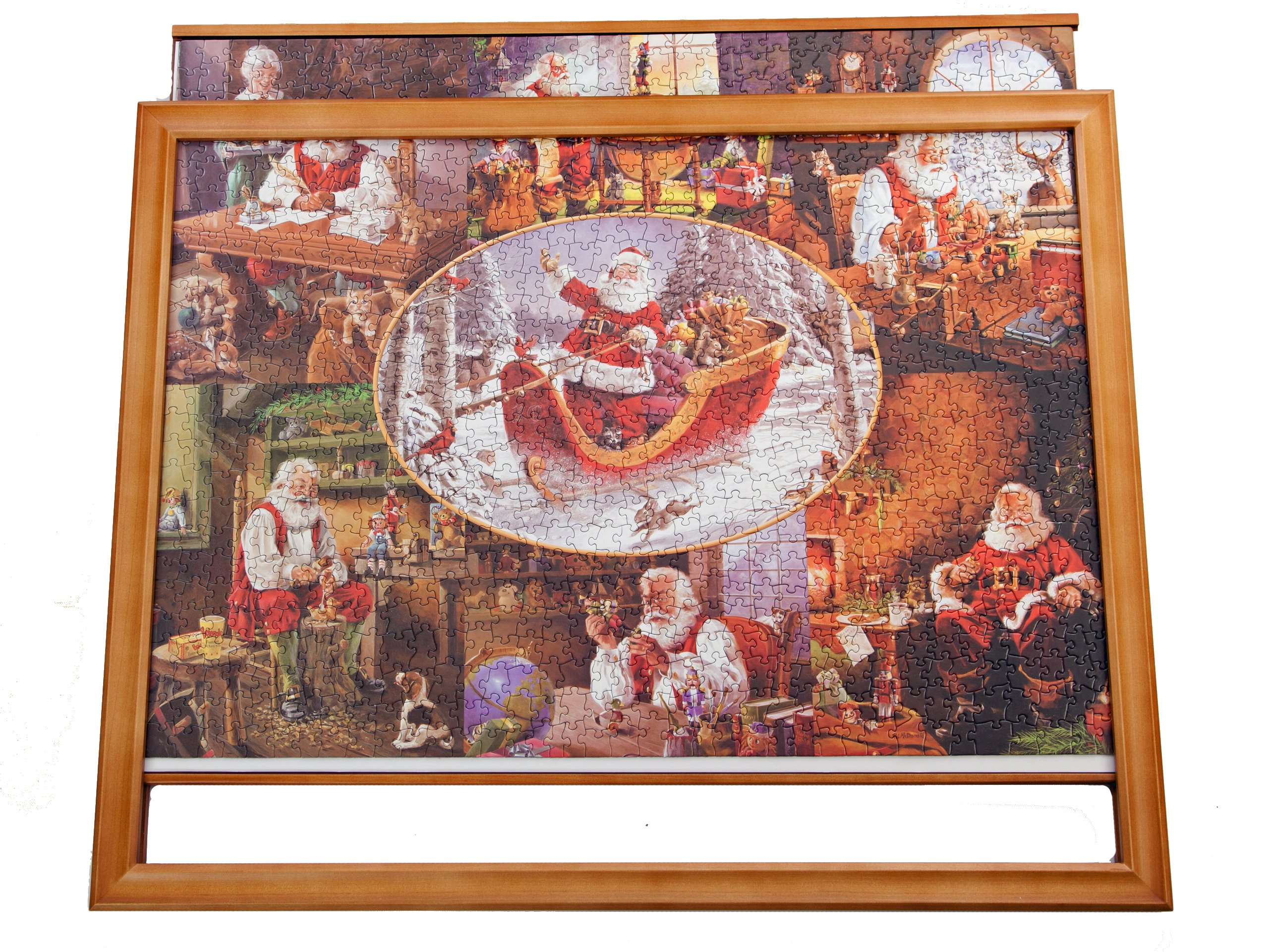 JIGFRAME LIGHT 1000 LARGE - Jigsaw puzzle frame to 30.1 inches x 24.7 inches