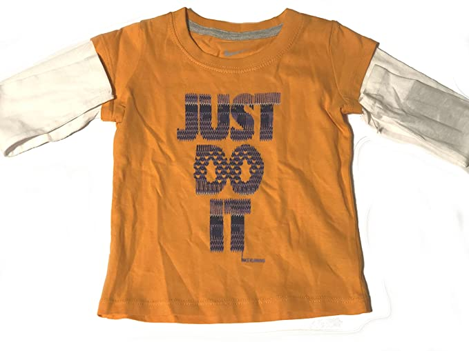 23d4e50d Image Unavailable. Image not available for. Color: NIKE Girl's Toddler 'Just  Do It' 2fer Long Sleeve Shirt ...