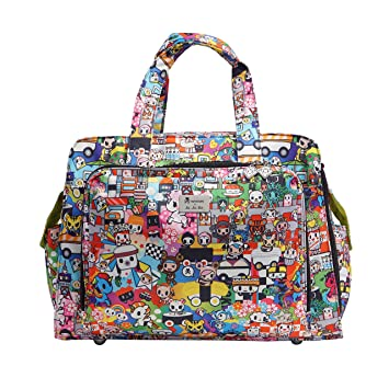 da824c54f076 JuJuBe Be Prepared Travel Carry-on/Diaper Bag, Tokidoki Collection - Sushi  Cars