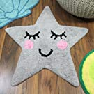 Just Contempo Star Shaped Kids Rug, Grey, 70 x 67 x 1cm