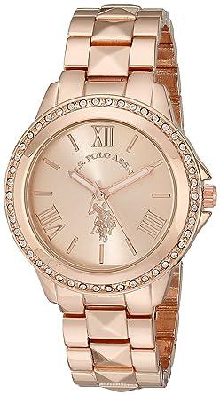 891fc400a U.S. Polo Assn. USC40078 Montre Bracelet Femme Alliage Or: Amazon.fr ...