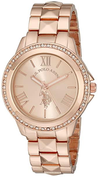 U.S. polo assocaition Analogue Rose Dial Women's Watch (Usc40078) Women at amazon
