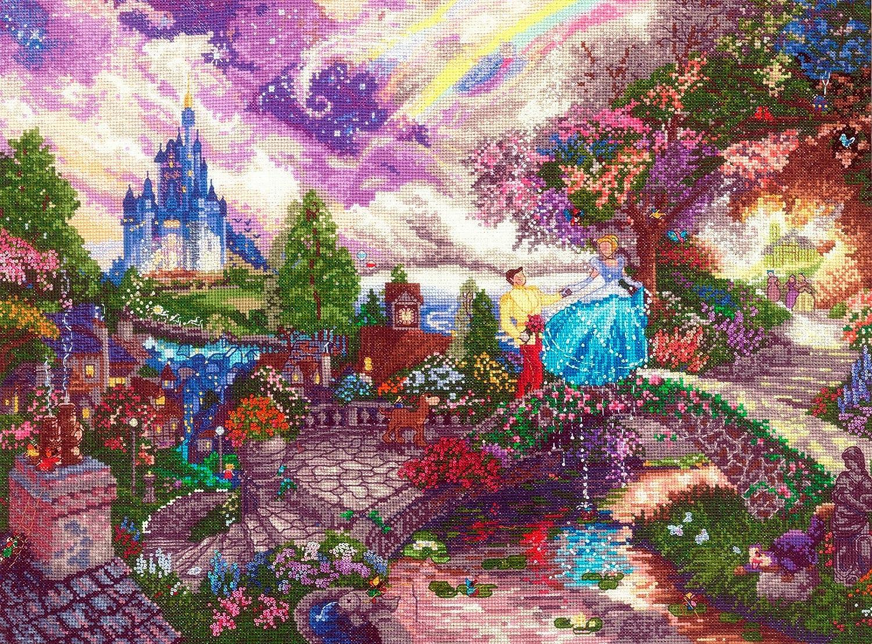 正規代理店 ディズニー ドリームス 18 トーマス Kinkade シンデレラの願い カウント 16