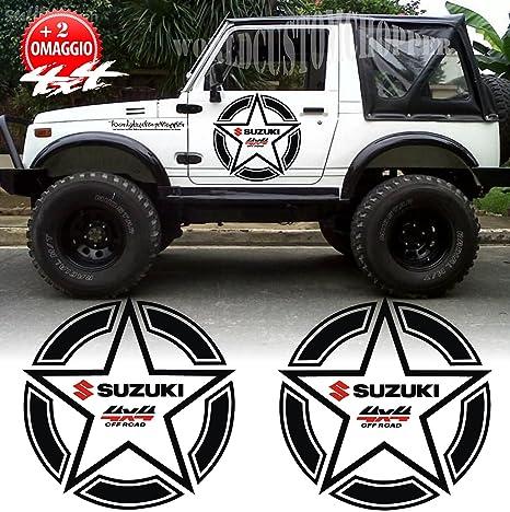 2 Adesivi Stickers Stelle Suzuki 4x4 Off Road Fuoristrada Samurai
