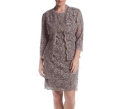 1d083b1419d R M Richards Lace Jacket Dress at Amazon Women s Clothing store
