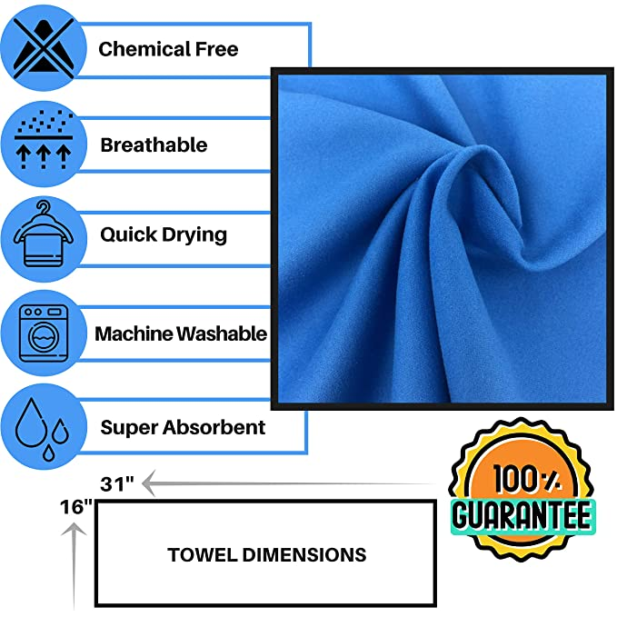 Amazon.com : Elite Trend Microfiber Quick Dry Travel Towel:for Gym & Sports 2 Pack Total:(XL 71 x 31) and(Small 31x16)- Thin Lightweight, Sand Free Towels ...