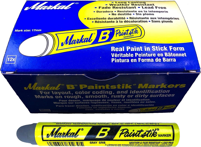3 Markal B Gray Tire Chalk Paint Sticks Crayon Surface Marker Graffiti Art