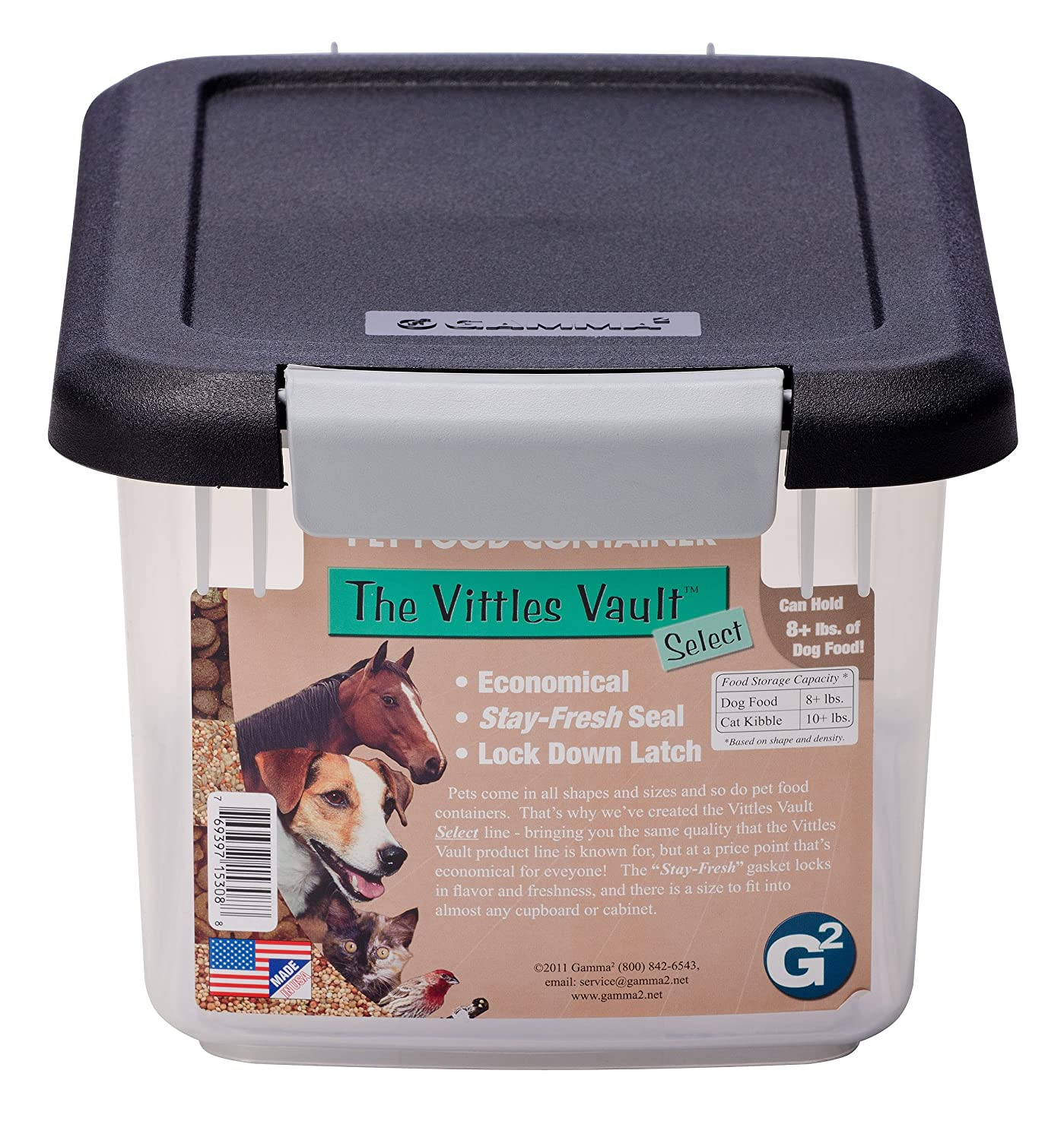 amazoncom gamma2 vittles vault 8 lb pet food container pet food storage products pet supplies