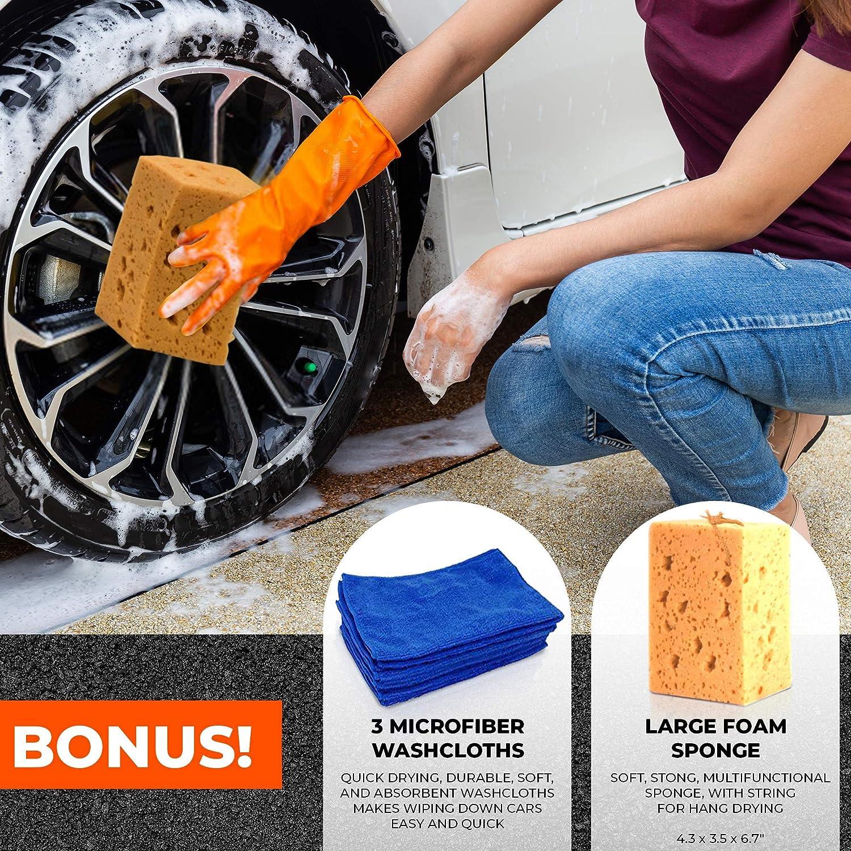 Scuddles | Foam Cannon | Foam Lance | Pressure Washer | Upgraded 2021 Model for Cars Full Kit Includes 3 Micro Fiber Towels and Sponge for Detailing Cars Or SUVS Pressure Washer Mega Set: Automotive
