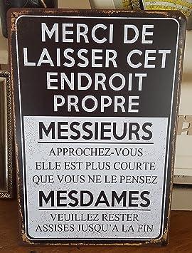 Plaque Toilettes Merci De Laisser Cet Endroit 2030