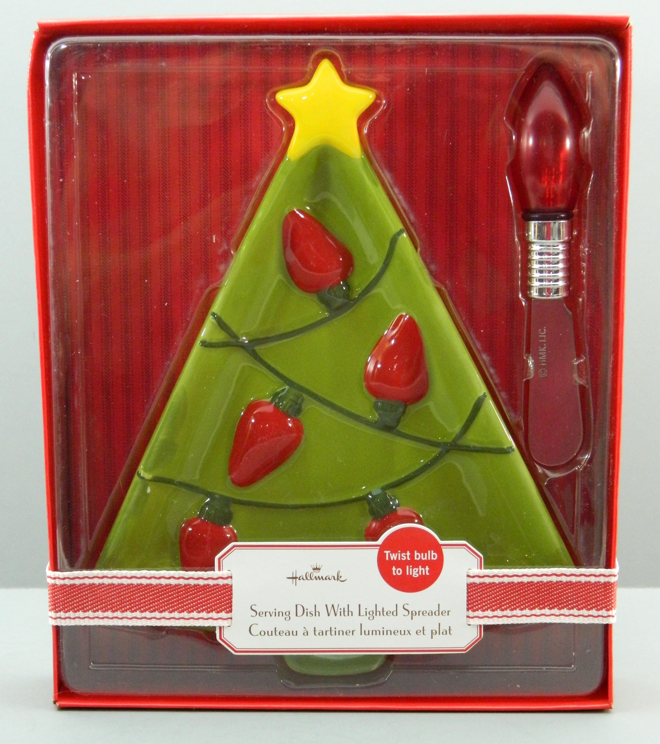 Christmas Tree Serving Dish with Christmas Light Spreader