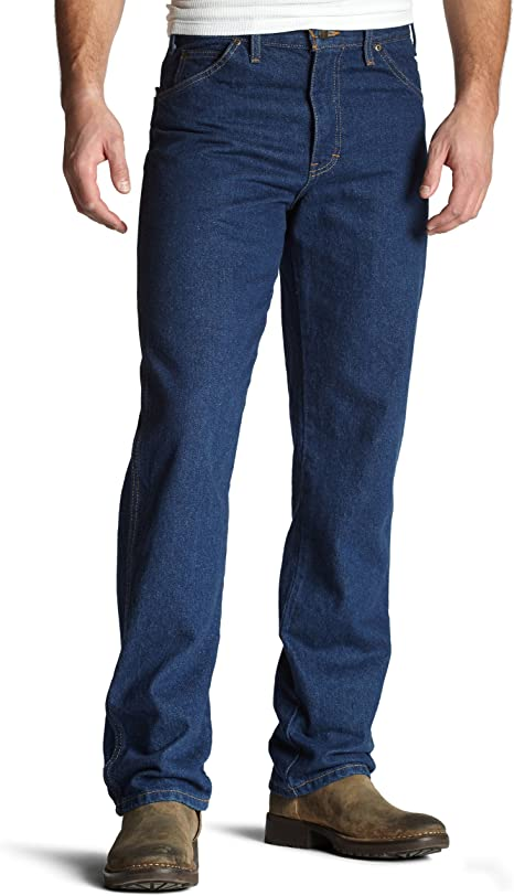 Dickies Denim Zip Fly Stone Washed Work Jeans FREE BEANIE
