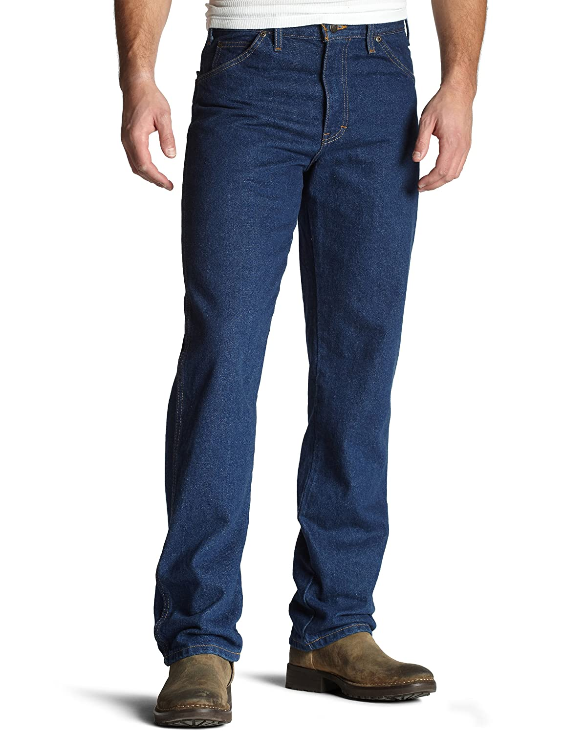 Dickies Men's Regular-Fit 5-Pocket Jean Heavyweight Cotton Denim Work Pants Dickies Men's Sportswear 9393RNB