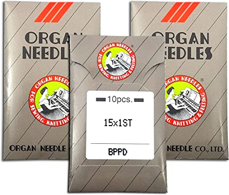 50 ORGAN TITANIUM HOME EMBROIDERY MACHINE NEEDLES 90//14 SHARP 15X1 PD