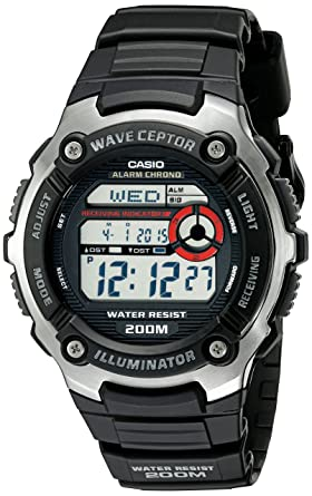 amazon com casio men s wv200a 1av waveceptor watch with black band rh amazon com