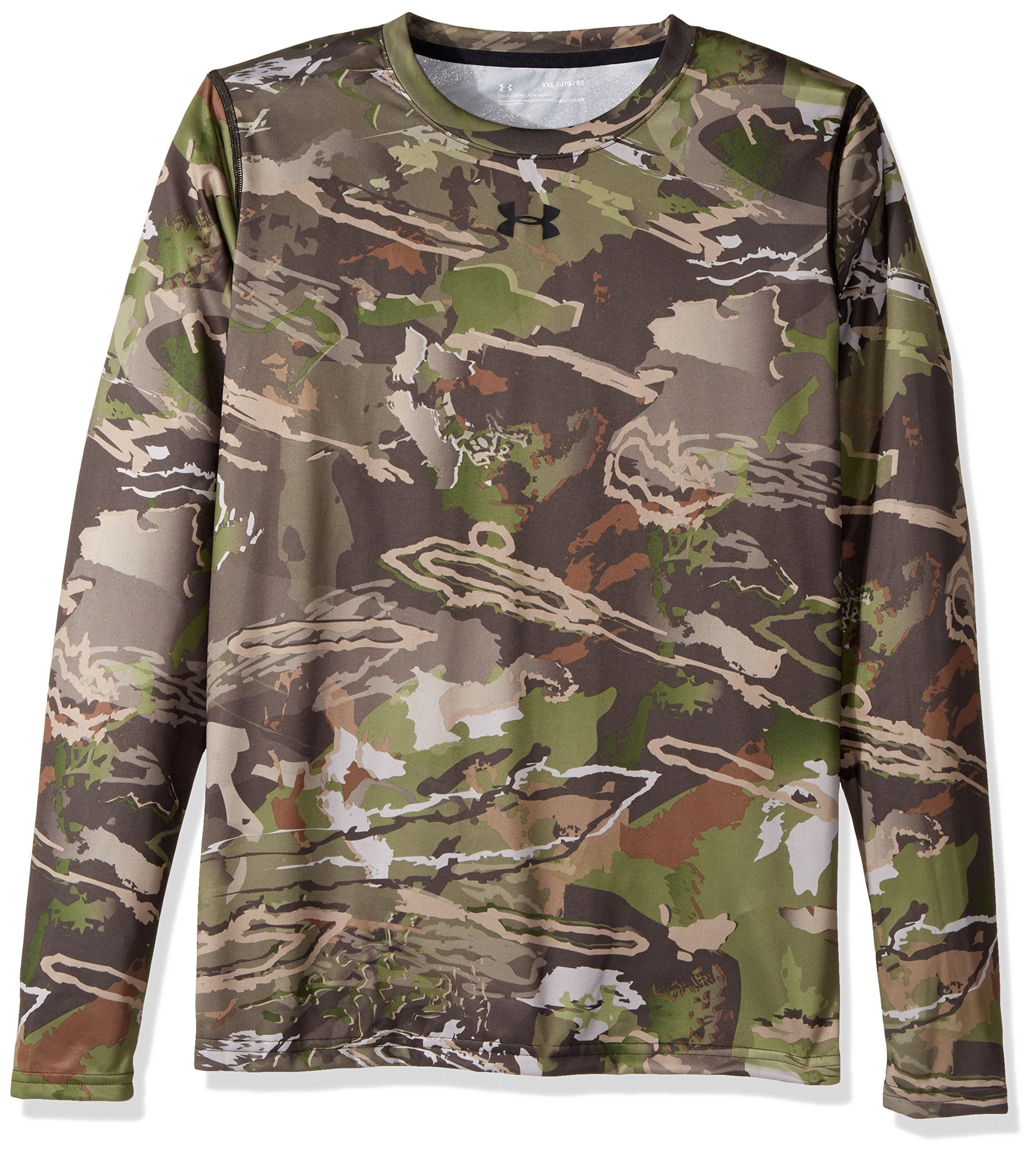 Under Armour Boys Scent Control Tech Long Sleeve Top,Ridge Reaper Camo Fo /Black, Youth Medium by Under Armour