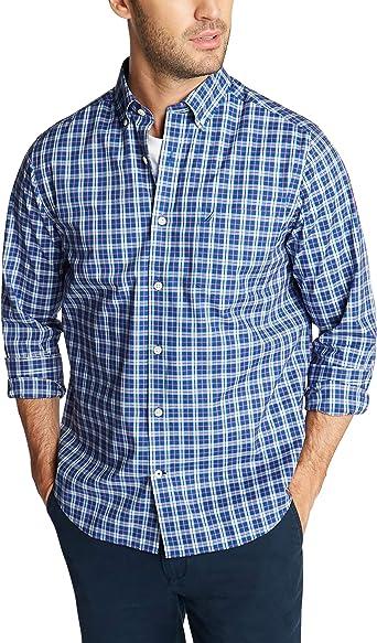 Nautica Hombre W93103 Camisa de Cuadros en popelín Transpirable y Resistente a Las Manchas: Amazon.es: Ropa y accesorios