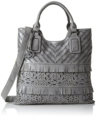 Q0332, Womens Shoulder Bag, Grau, 38x32x1 cm (B x H T) Remonte
