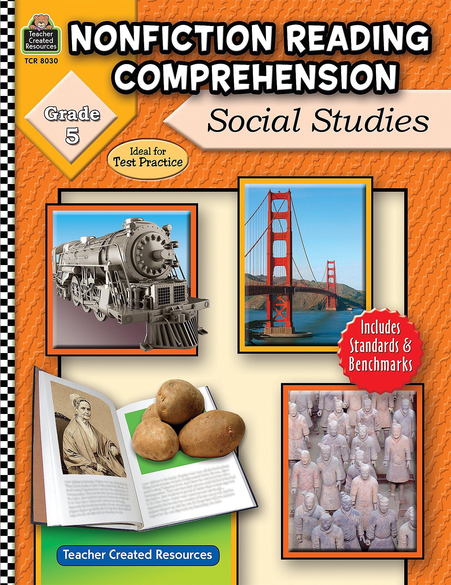 Worksheets Social Studies Reading Comprehension Worksheets amazon com nonfiction reading comprehension social studies grade 5 0088231980308 ruth foster books