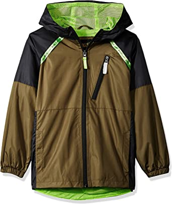 iXtreme Boys' Big Colorblock Windbreaker, Olive, 8