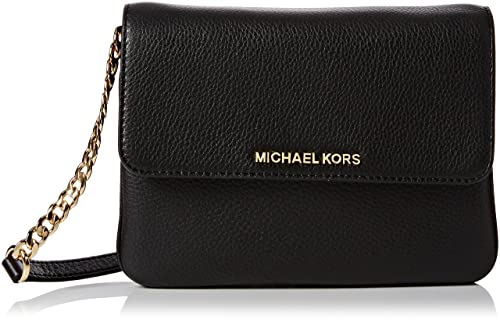 dcad209567af MICHAEL Michael Kors Bedford Double Gusset Crossbody Black/Gold: Amazon.ca:  Jewelry