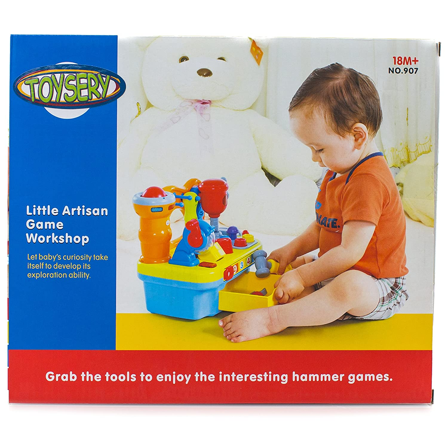 Amazon Toysery Musical Learning Workbench Toy with Tools
