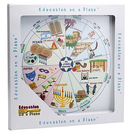 Calendario Ebreo.Jewish Educational Pasti Piatto Per Bambini Fun Colorato E