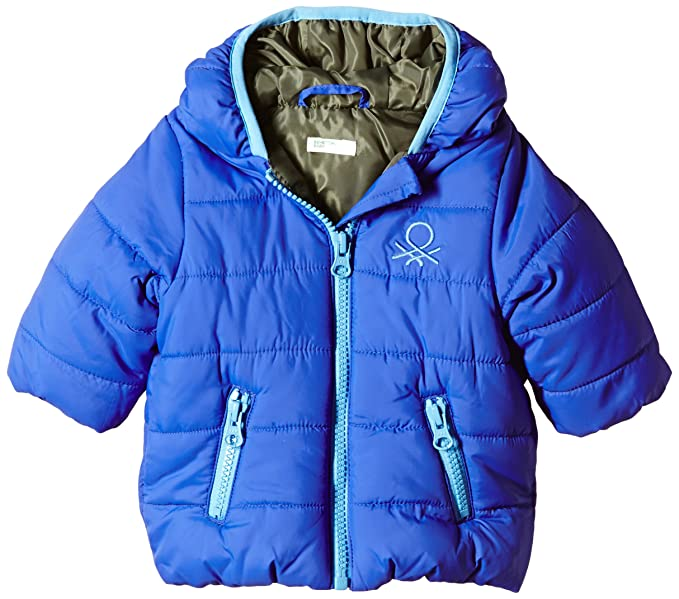 United Colors of Benetton Heavy Wadded Coat-Abrigo Bebé-Niñas Azul Azul 6 a 9 Meses: Amazon.es: Ropa y accesorios
