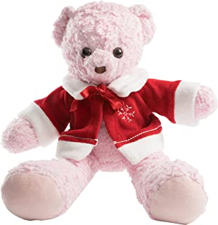 product image for Bears For Humanity Christmas Sherpa Bear Stuffed Toy, Pink, 16""