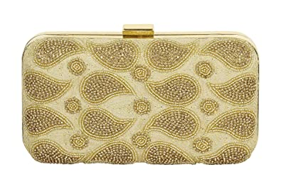 Extra 10 Discount Purse Collection Stylish Party Wear Beaded Gold