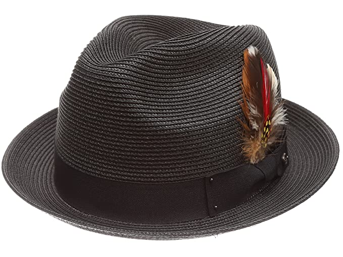 ef2cd78198d7a MIRMARU Men s Summer Lightweight Crushable Trilby Fedora hat with Removable  Feather (F2680
