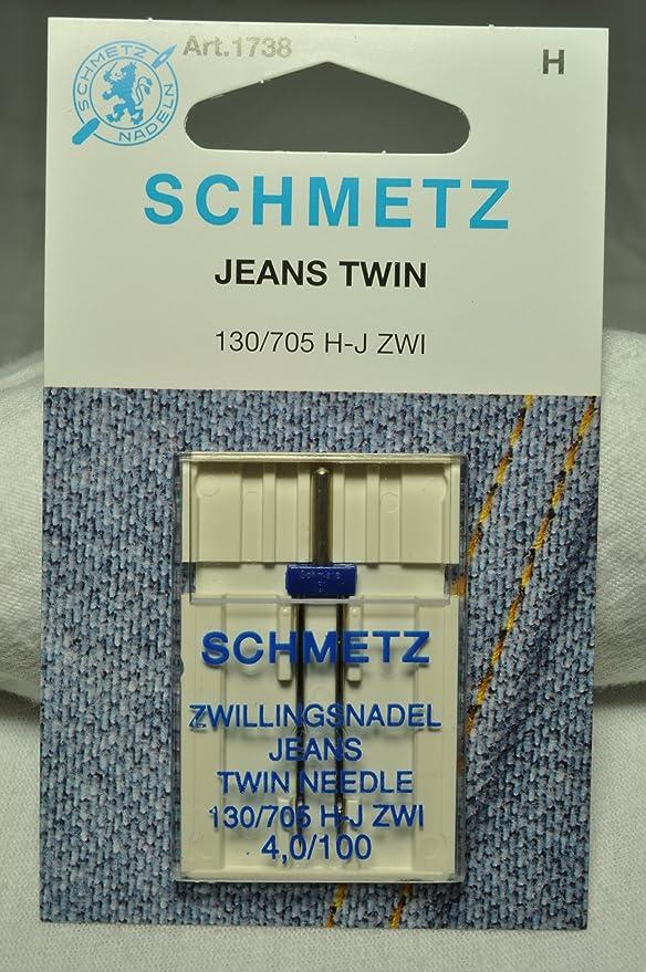 Máquina de coser de doble aguja vaquero Schmetz: Amazon.es: Hogar