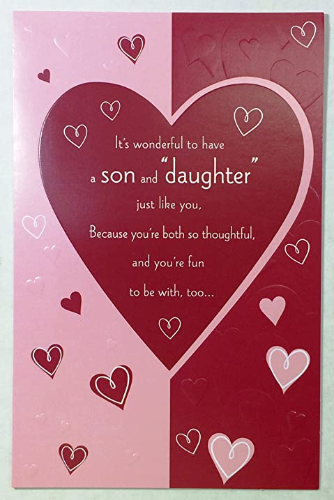 Amazon valentine card for son wife its wonderful to have a valentine card for son wife its wonderful to have a son and quotdaughterquot m4hsunfo