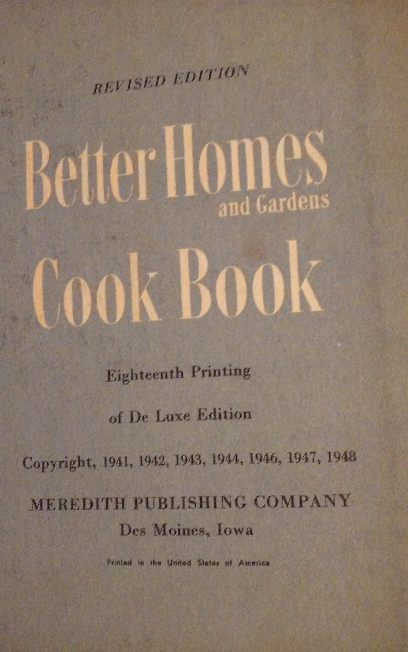 Better Homes and Gardens Cook Book 1950: Food Editors Better Homes & Gardens: Amazon.com: Books