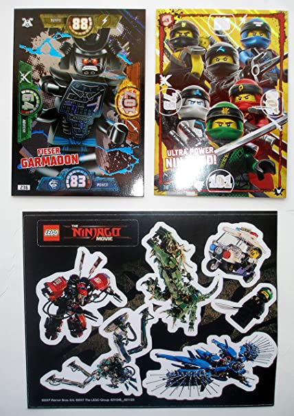 Ninjago Serie 3 Lego 2 Tarjetas XXL Ultra Power Ninja-Go ...