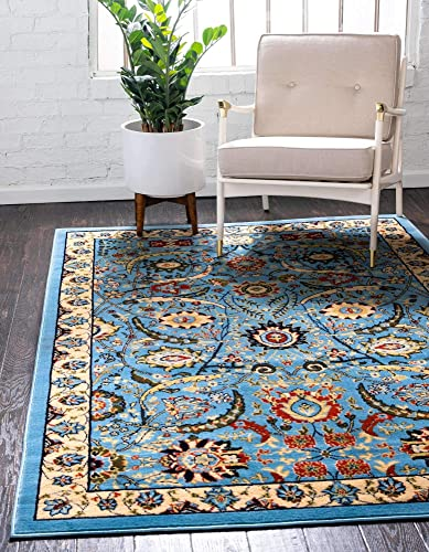 Unique Loom Espahan Collection Classic Traditional Blue Area Rug 10' 0 x 13' 0
