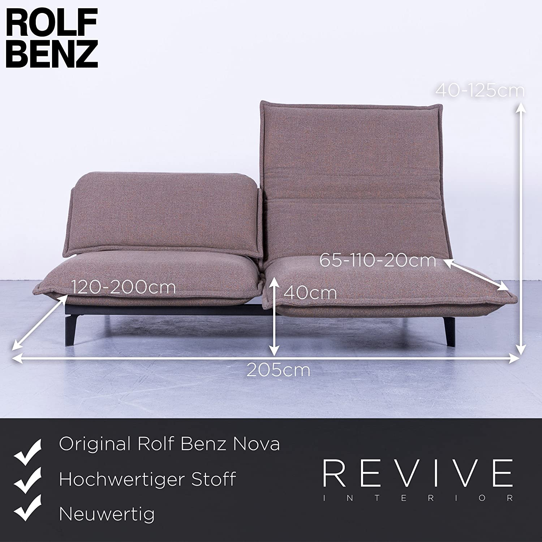 Innenarchitektur Benz Couch Foto Von Conceptreview: Rolf Nova Designer Stoff Sofa Braun