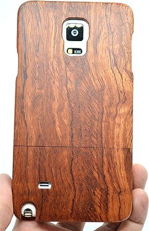 PhantomSky Samsung Galaxy Note 4 Funda de Madera, [Serie de Lujo] Natural Hecha a Mano de Bambú/Madera Carcasa Case Cover para tu Smartphone: Amazon.es: Electrónica