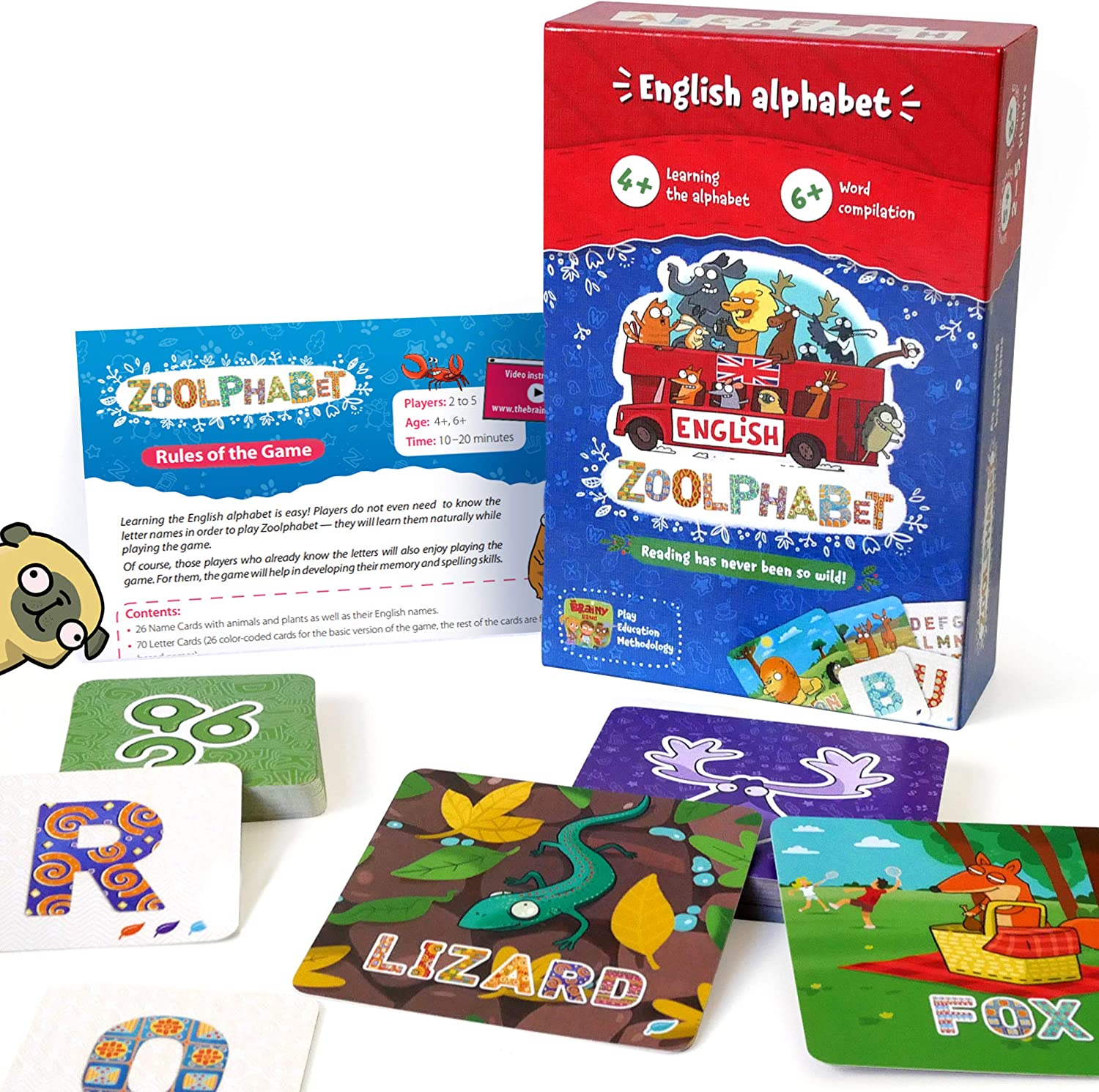 Alphabet Reading Memory Educational Family Board Games for Kids 4 and up 30% OFF £11.89 @ Amazon