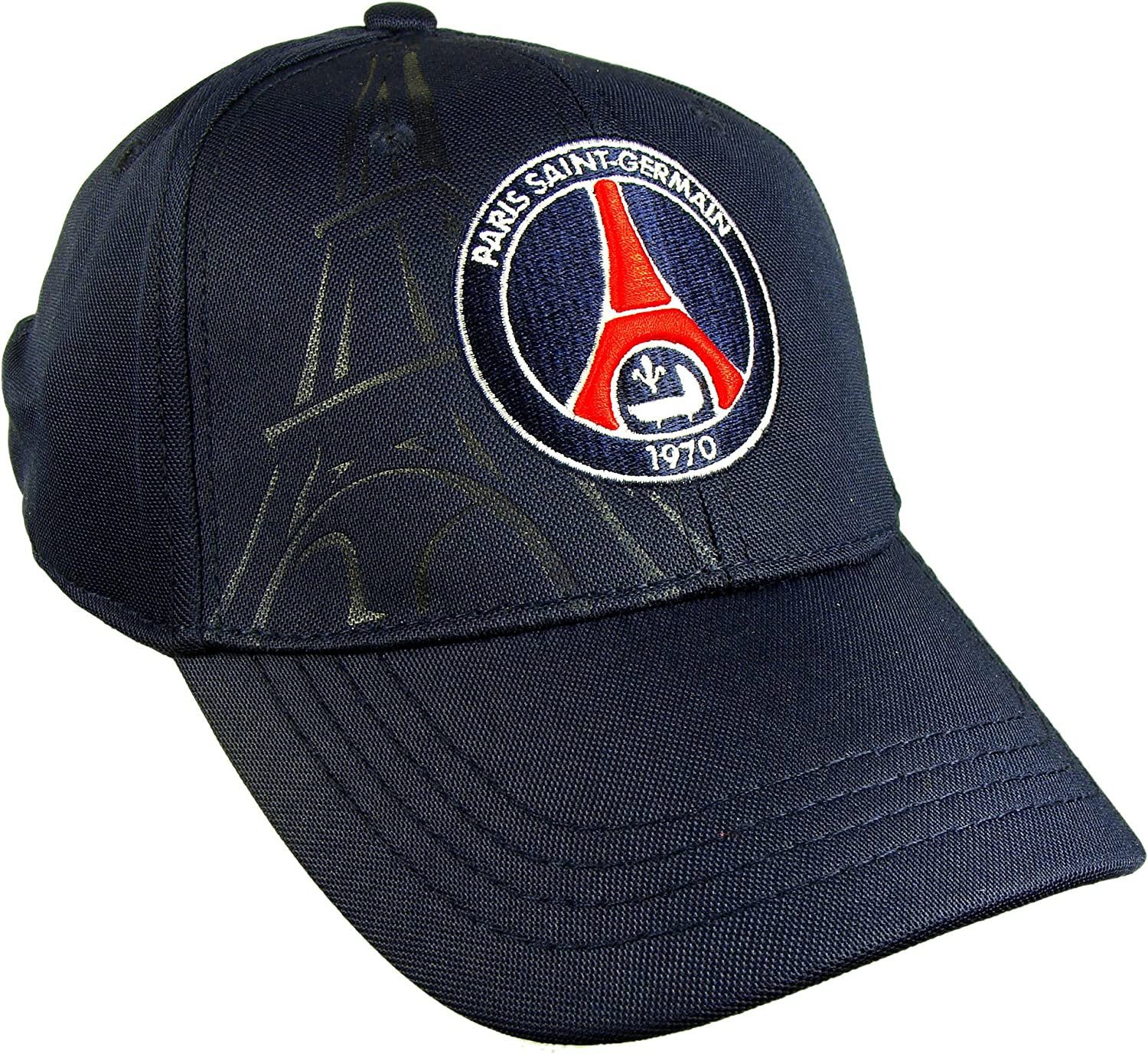 Psg Official Paris Saint Germain Eiffel Tower Men S Cap Adjustable Size At Amazon Men S Clothing Store Baseball Caps