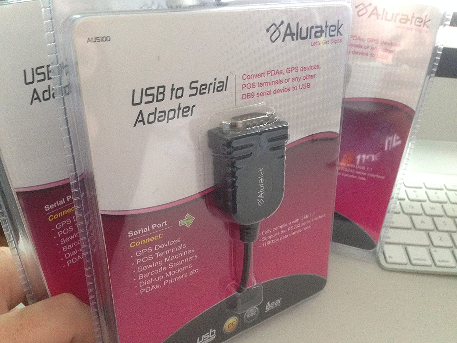 Aluratek USB to Serial Adapter Cable AUS100