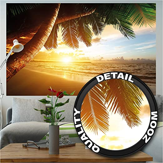 Paint Your Life Letto A Castello.Amazon Com Mural Beach Sunset Wall Art Decoration Posters Of