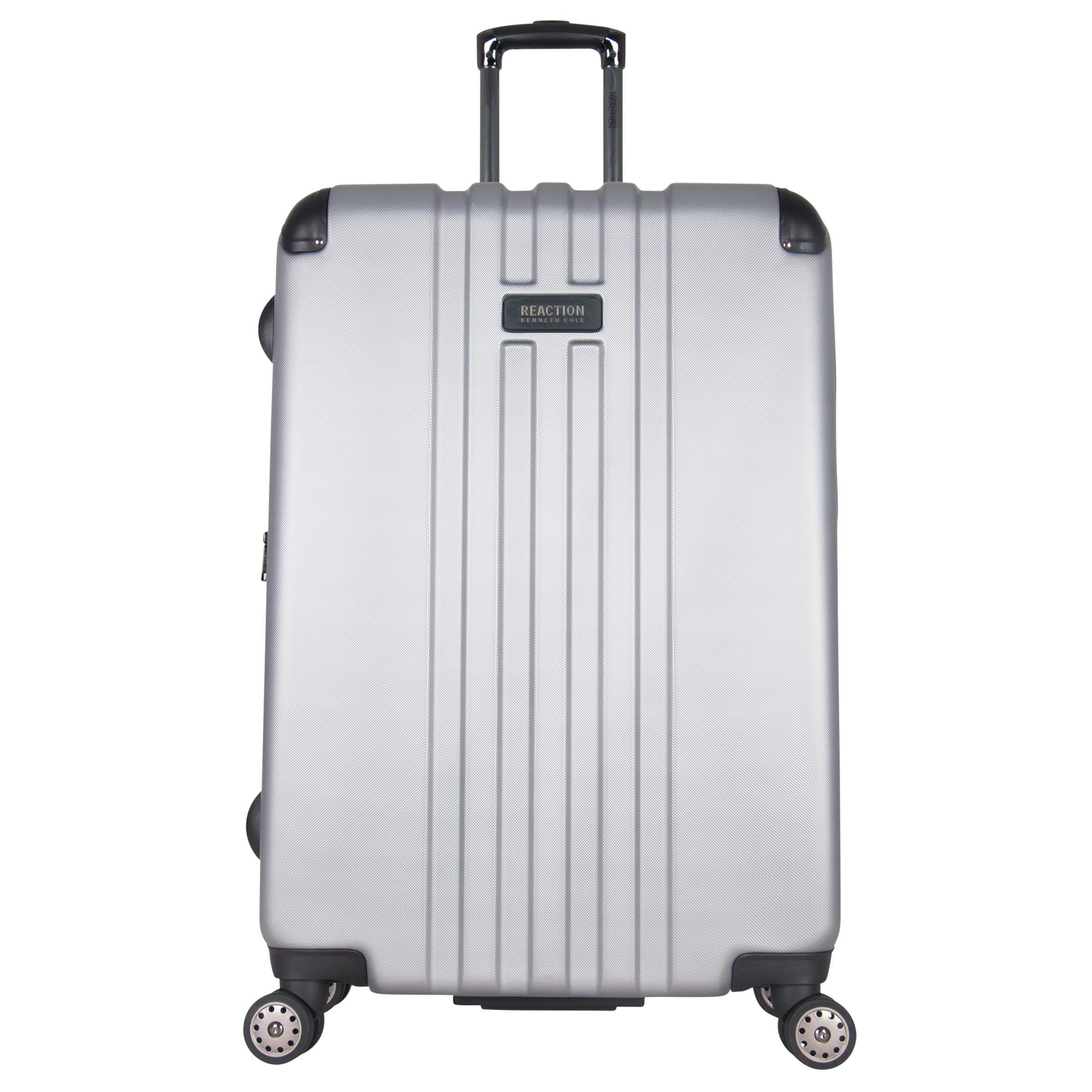 Kenneth Cole Reaction Reverb 29'' Hardside Expandable 8-Wheel Spinner Checked Luggage, Light Silver