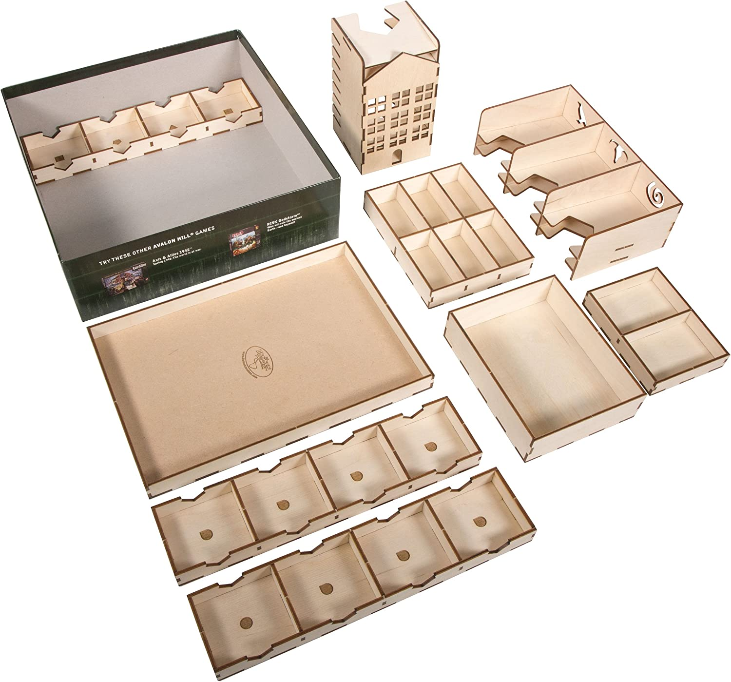 Amazon Com The Broken Token Box Organizer For Betrayal At House On The Hill Toys Games