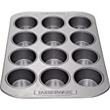 Farberware 52106 Nonstick Bakeware  12-Cup Muffin Tin / Nonstick 12-Cup Cupcake Tin  - 12 Cup, Gray