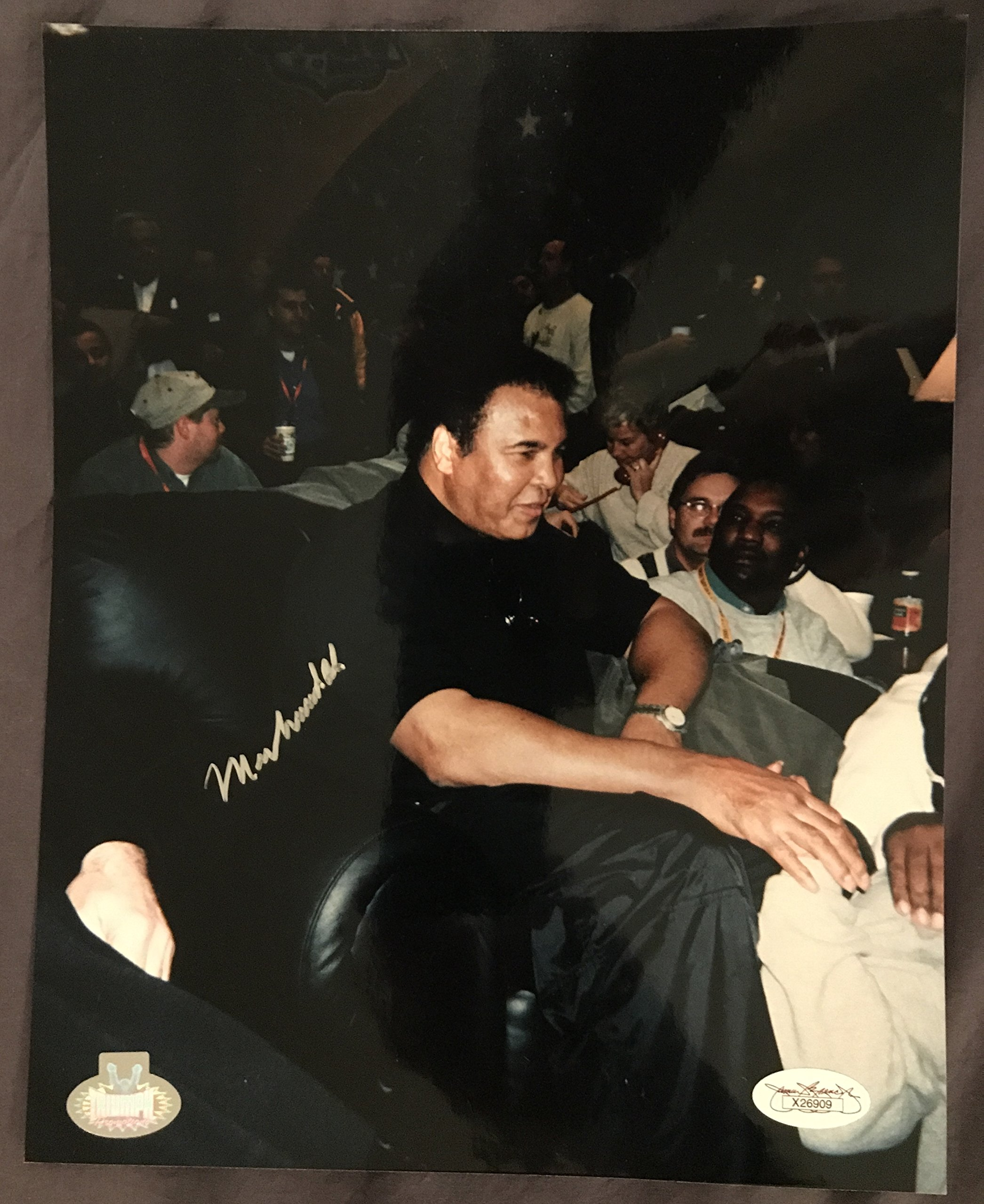 "MUHAMMAD ALI SIGNED 8""x10"" PHOTO FROM 2000 SUPERBOWL w/JSA LOA"