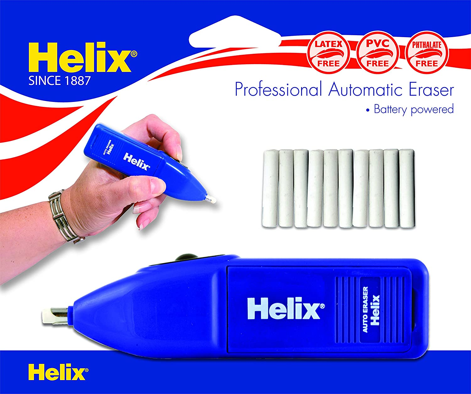 Helix Auto Eraser Pack of 2