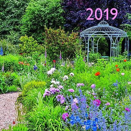 Calendario 2019 Póster – jardín con hortensias – Glicina – Rosales – jardín Inglés – formato 30 x 30 cm (TN) + incluye un – Agenda de bolsillo 2019: Amazon.es: Oficina y papelería
